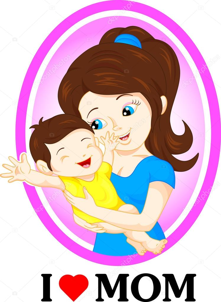 Cute Mom And Baby Stock Vector C Lawangdesign 99274784