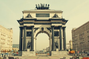 MOSCOW - SEPTEMBER 26, 2014: The New Triumphal Arch in the Victo