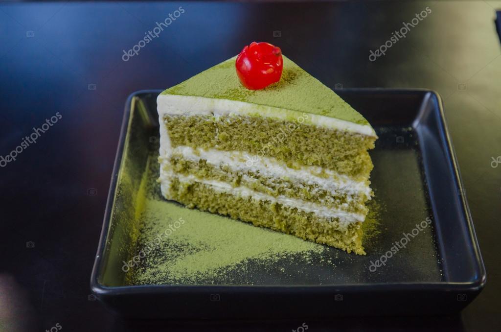 Japanischer Matcha Grun Tee Kuchen Tee Und Kuchen Stockfoto