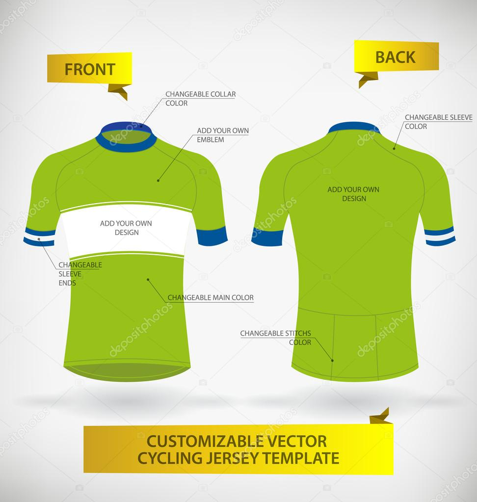 cycling jersey template stock vector andrejco 101833284