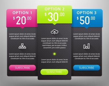 Vector Pricing Tables Template
