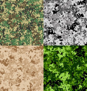 Digital Camouflage Seamless Vector Pattern stock vector