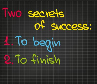2 secrets of success