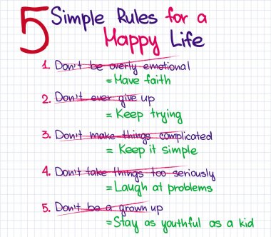5 rules of happy life