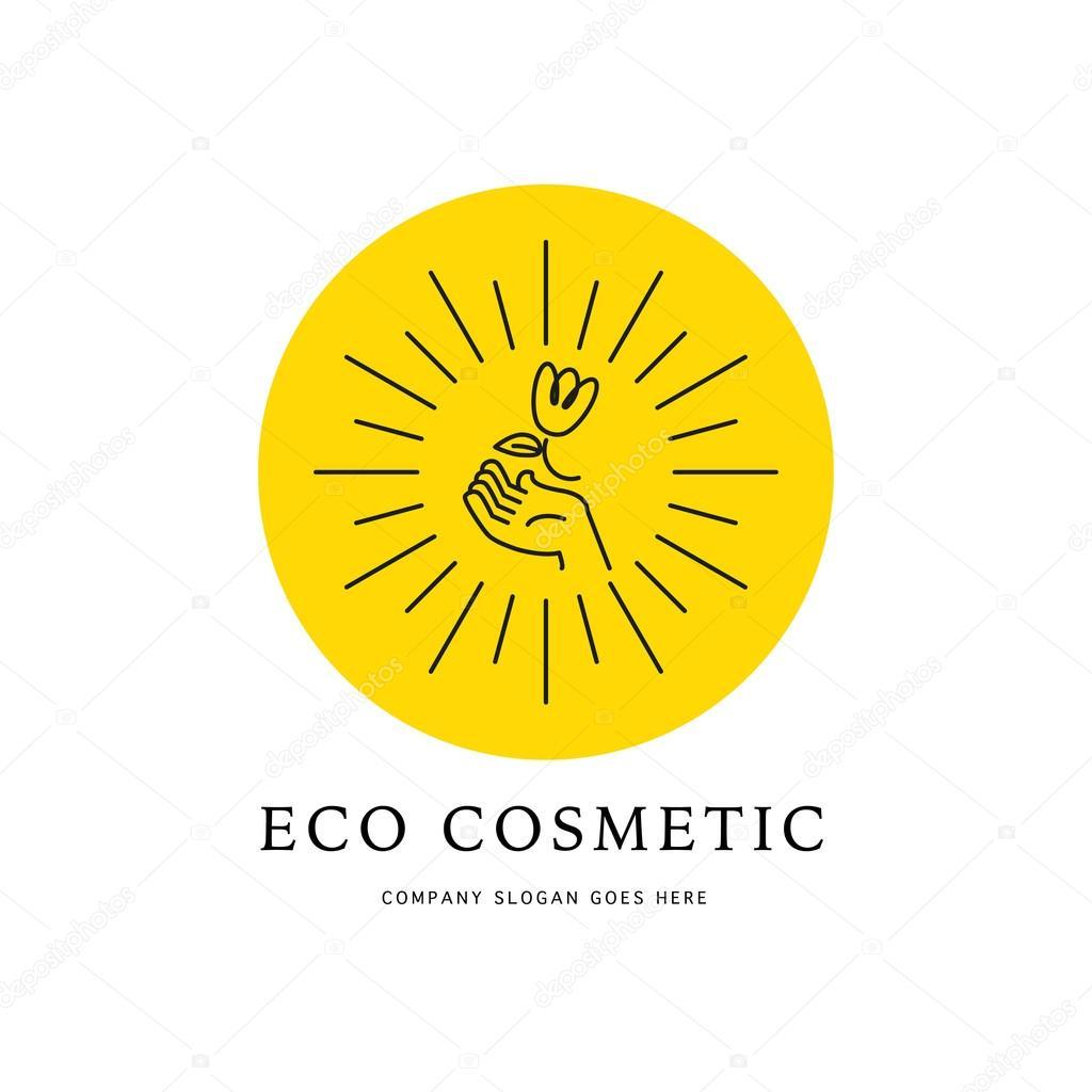 Vector cosmetic logo design template  — Stock Vector