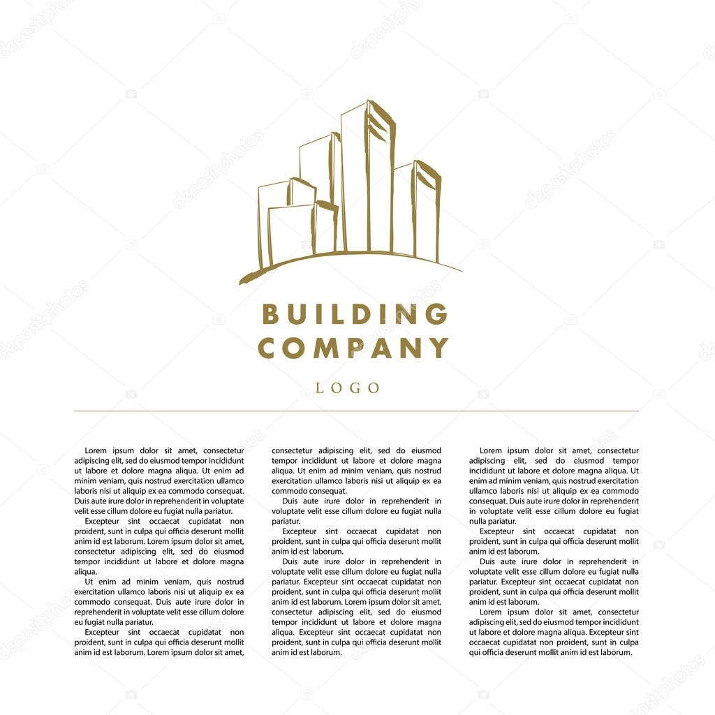 Vector logo disign for urban building company and industrial business. Office, architecture, bank, insurance, technology insignia.