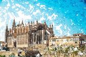 Kathedrale von Palma De mallorca.