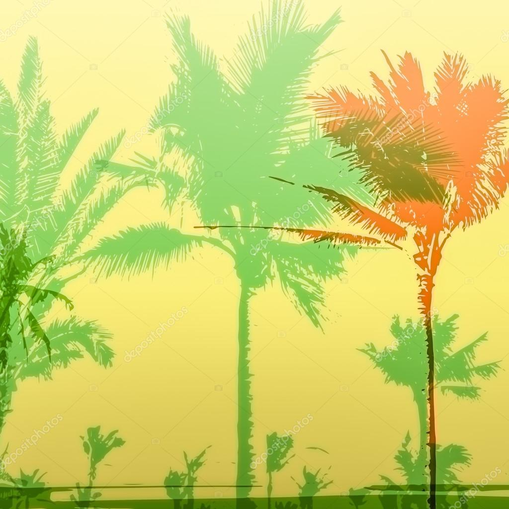 Palm tree print — Stock Photo © Romas_ph #113602512