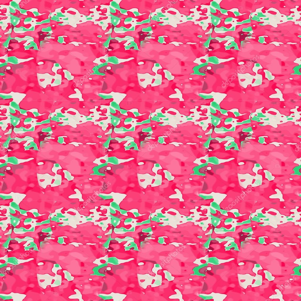 Seamless pattern with floral palette