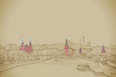 Moscow River and the Kremlin