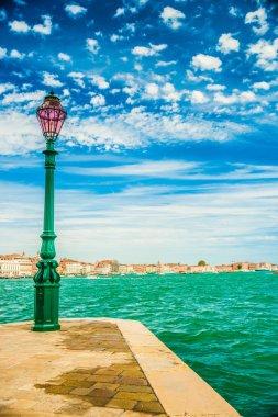 Green lantern on Giudecca island
