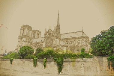notre-dame church, view from seine