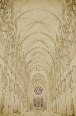 Nave of a Gothic Church