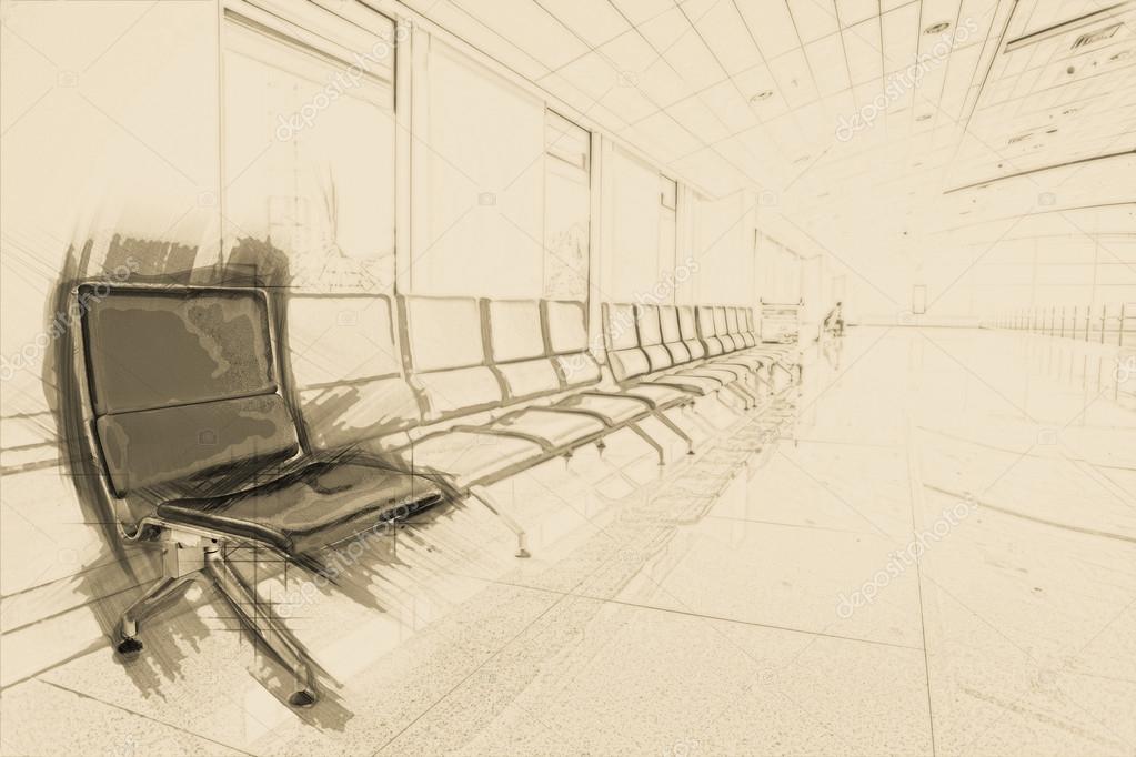 Airport Waiting Area Stock Photo C Romas Ph 85905558