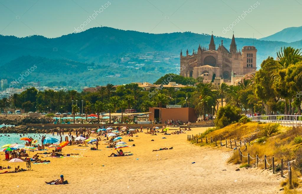 View of the beach of Palma de Mallorca