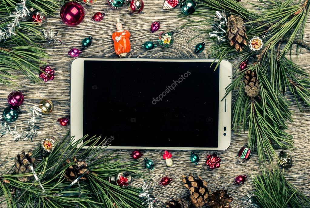 Weihnachten Tannenbaum Mit Zapfen Stockfoto Romasph 92984490