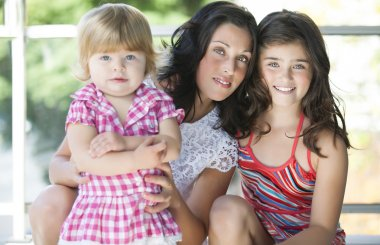 Mother with her beautiful daughters