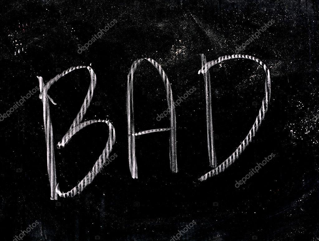 chalk bad writting bad stock photo jcomp 111231420