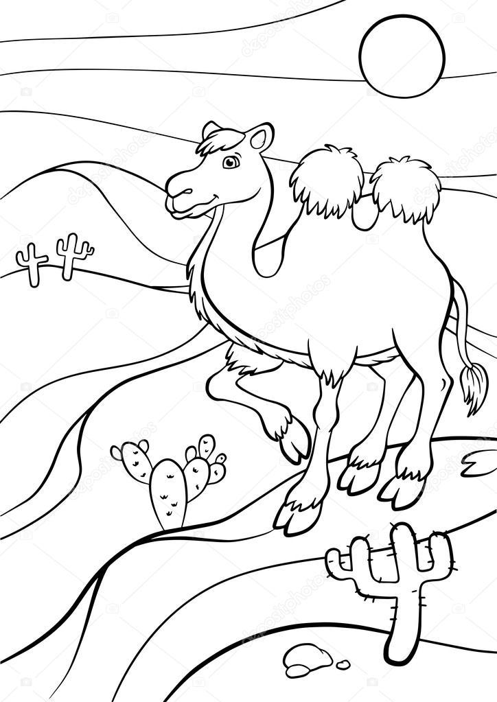 Imágenes: los animales del desierto para colorear | Lindo camello se ...