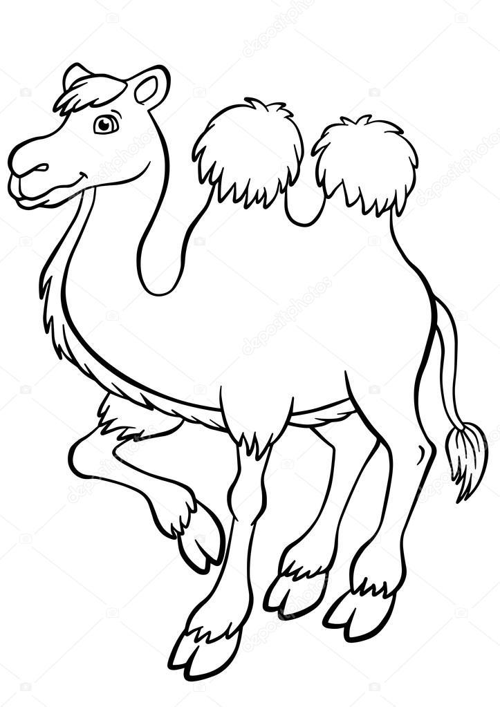 Camello en el desierto para colorear | Lindos camello stands y ...