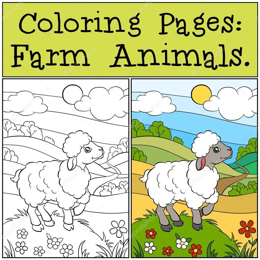 Disegni da colorare animali da fattoria cute little for Piani di fattoria di 2000 piedi quadrati