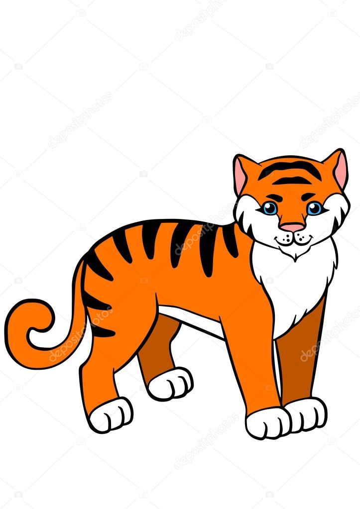 Dibujos: tigres para niños | Dibujos animados animales salvajes para ...