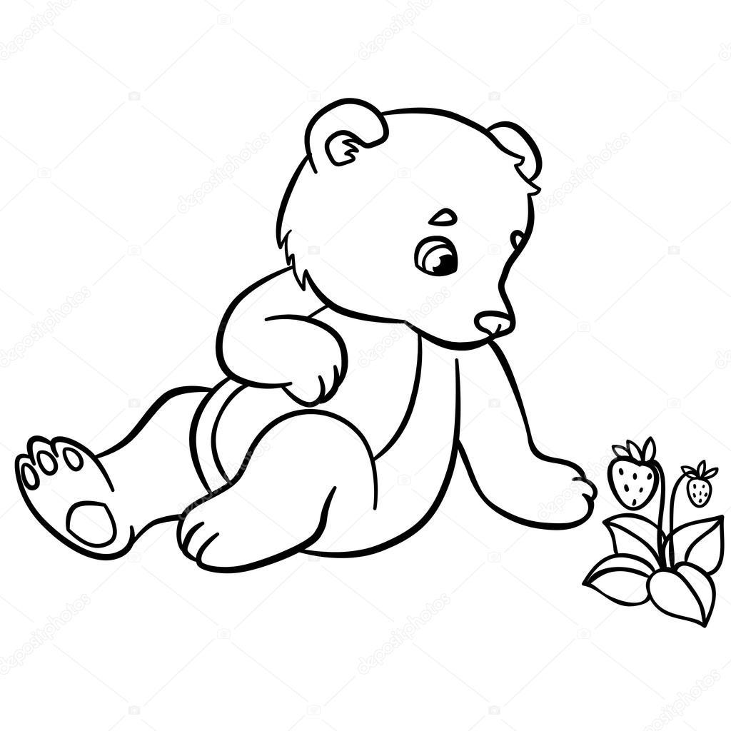 kleurplaten wilde dieren kleine schattige baby