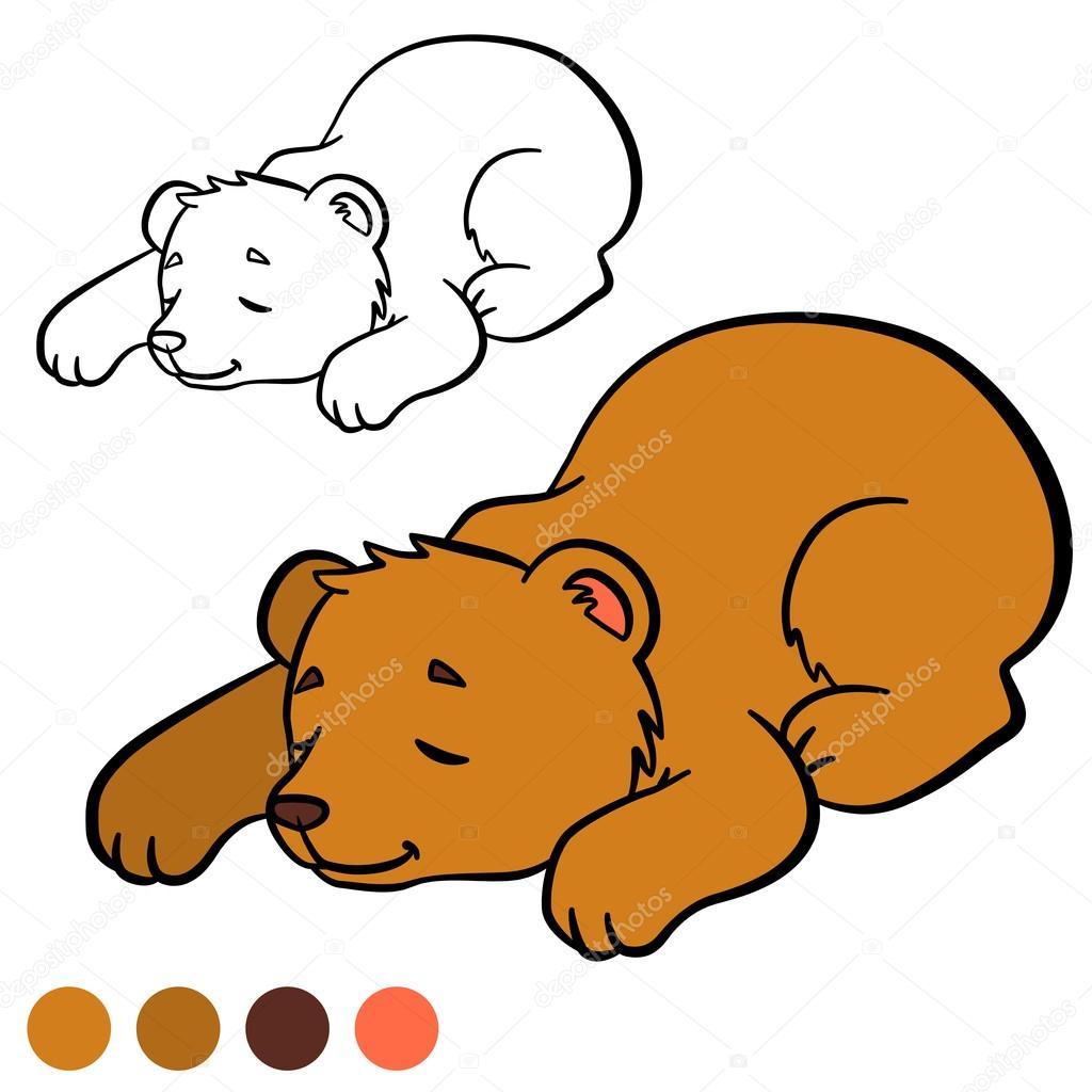 Kleurplaten Baby Beer.Kleurplaat Kleur Me Bear Kleine Schattige Baby Beer