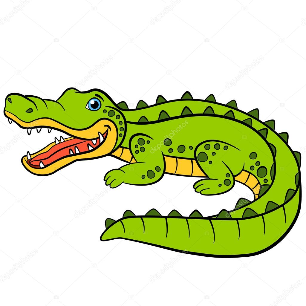 Animaux de dessin anim pour enfants petit mignon alligator image vectorielle ya mayka - Dessin anime crocodile ...