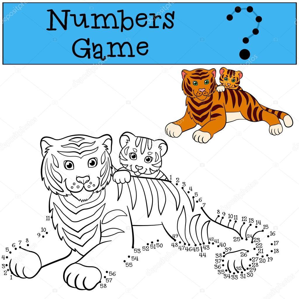 Juegos Educativos Para Ninos Juego De Numeros Tigre Madre