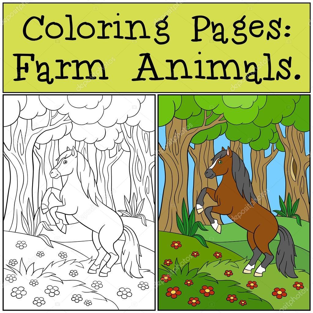Malvorlagen: Landwirtschaftliche Nutztiere. Schönes nettes Pferd ...