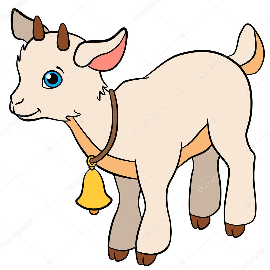 Baby goat coloring page