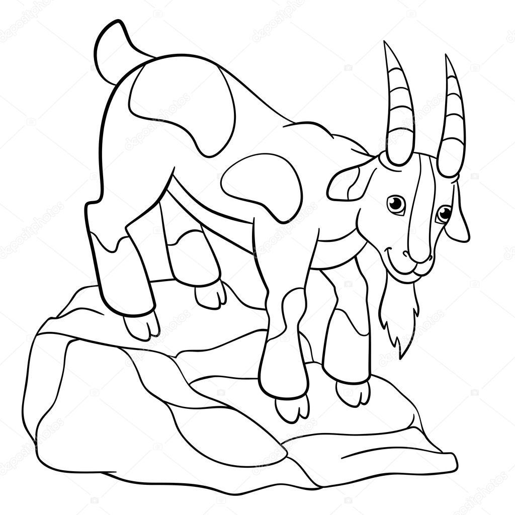 Disegni da colorare animali da fattoria capra di billy for Piani di fattoria di 2000 piedi quadrati