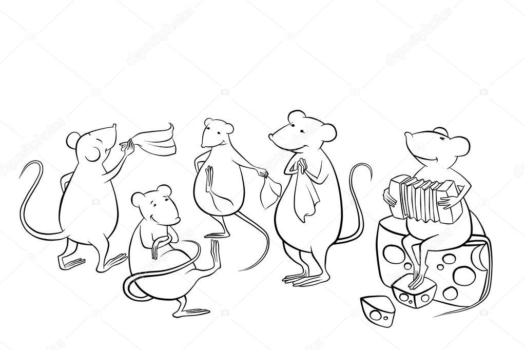 Imágenes: gatos y ratones para colorear | gato fuera de casa ...