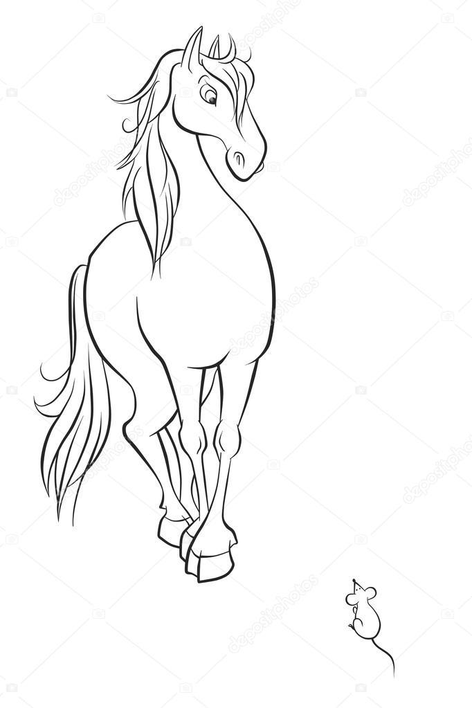 caballo y el ratón — Foto de stock © ya-mayka #52351611