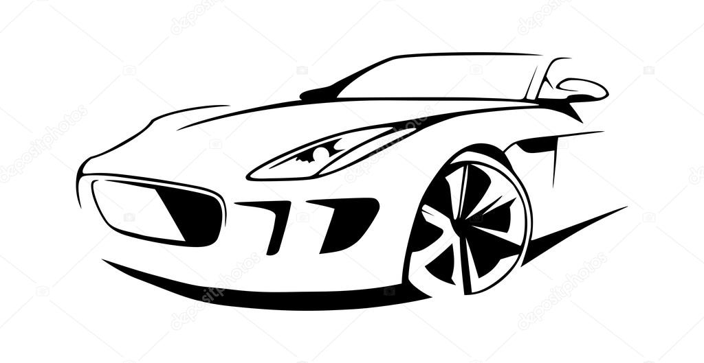 black sports car clipart - photo #19