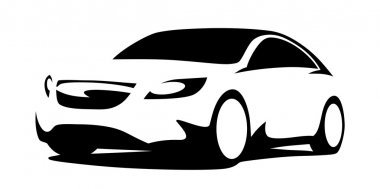 Car silhouette modern front view stock vector