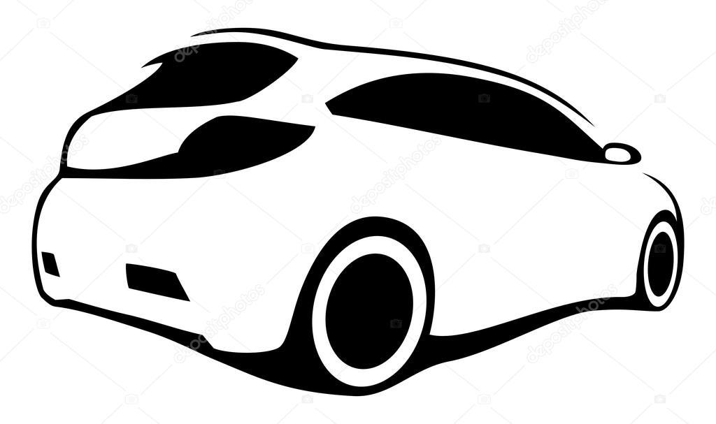 Race Car Vector Silhouette
