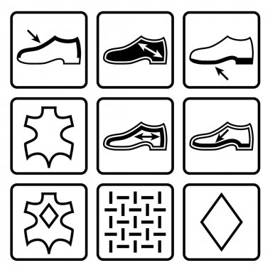 Shoes properties symbols