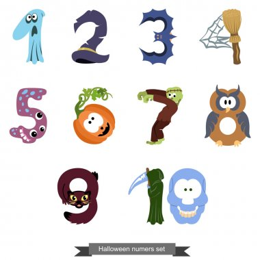 Numbers like symbols of the Halloween