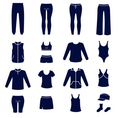 Different types of women sport clothes