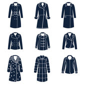 Photo Different types of women winter clothes