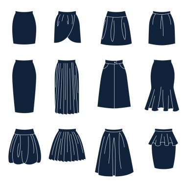 Different types of women skirts