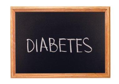 Written in white chalk on a blackboard - diabetes
