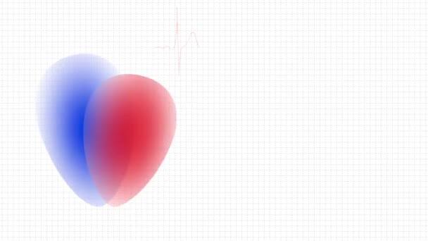 banner, animált szívvel és cardiogram