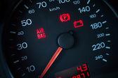Airbag-Warnleuchte. Armaturenbrett in Großaufnahme