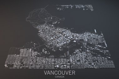 Vancouver, map, satellite view