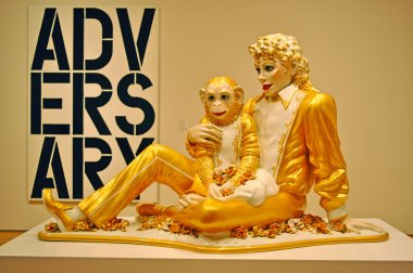 San Francisco: the work Michael Jackson and Bubbles by Jeff Koons at Moma Museum