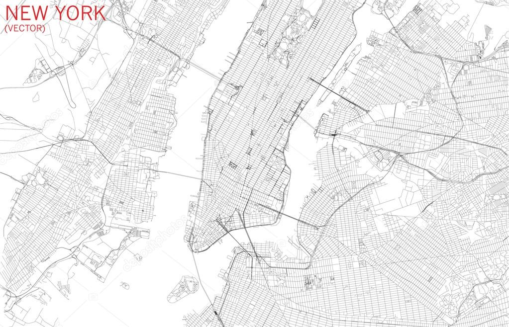 Download New York Map.New York City Satellite Stock Vector C Vampy1 110776886