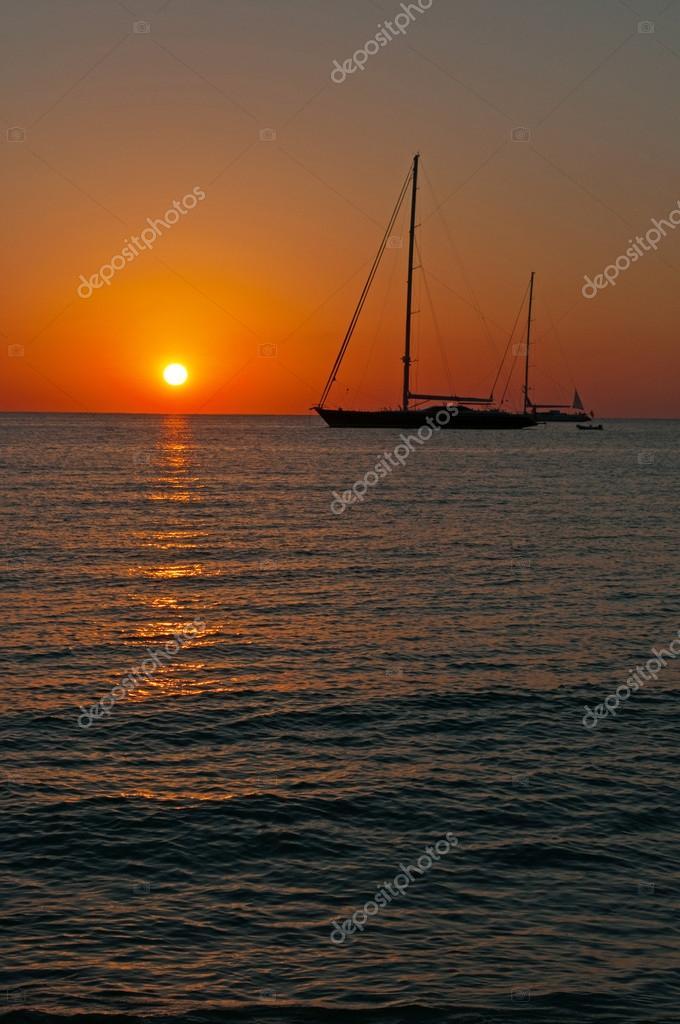 puesta de sol playa de ses illetes